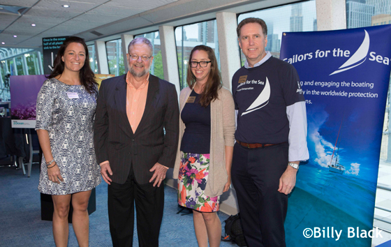 Heather Ruhsam, David Rockefeller, Jr., Hilary Kotoun and R. Mark Davis, Sailors for the Sea