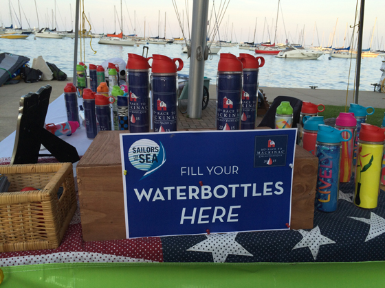 Chicago Yacht Club's Race to Mackinac, Lively Bottle, reusable water bottles at regattas, sailing sustainably, Chicago Yacht Club, Clean regattas