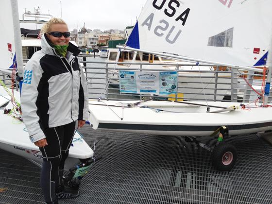 Laser sailing, clean regattas, sailors for the sea, D'amy Steward, St. Francis Yacht Club