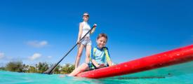 Join Sailors for the Sea email list, stand up paddle board, kids paddling,