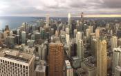 Chicago skyline, chicago, lake michigan