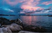 sunset, mooring, anchor