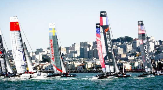 AC45 racing in San Francisco