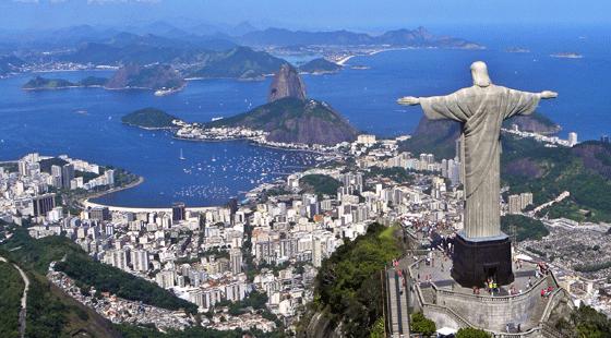 Christ on Corcovado, Rio de Janeiro, Guanabara Bay, Wikipedia Commons