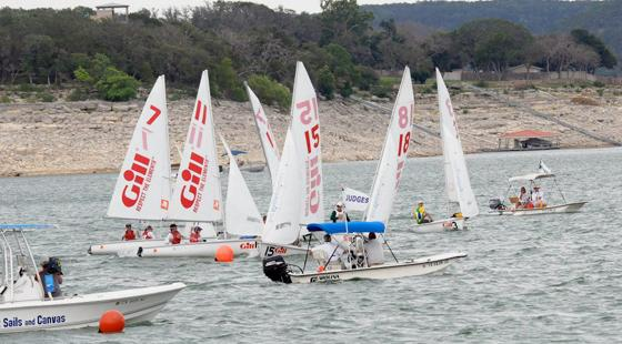 College Sailing in Austin, Texas, drought