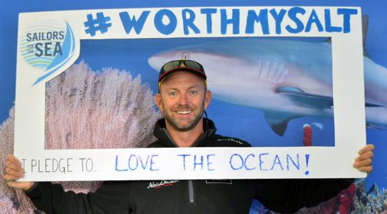 Ian Walker, winning skipper of the 2014-2015 Volvo Ocean Race pledges his support for the ocean.