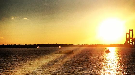 rhode island, Narragansett bay, sunset