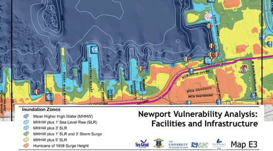 Downtown Newport Flood Map