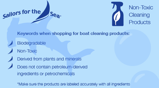 Non toxic cleaning products for boats