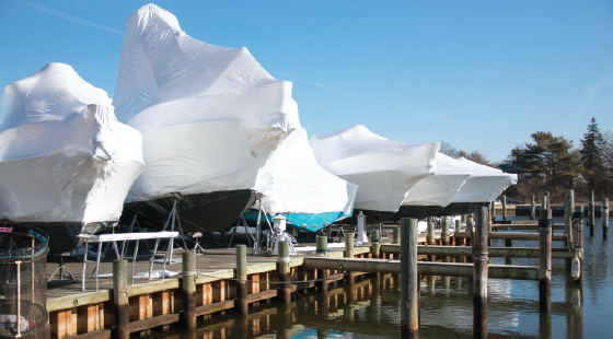 shrinkwrap, boat covering, boat covers, spring preparation