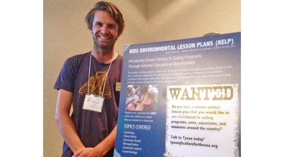 Tyson Bottenus at the National Marine Educators Association Conference