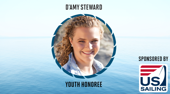 damy steward, youth honoree, us sailing, sponsor