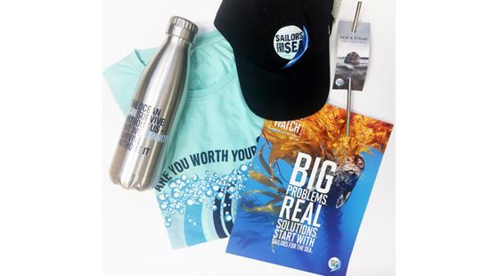donate, sailors for the sea, sailors for the sea clothing, reusable water bottle, reusable straw, sailors for the sea hat