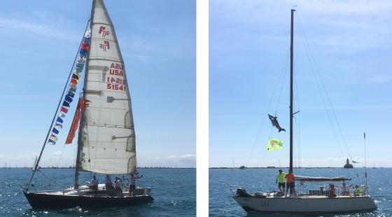 chicago mackinac race, parade of boats, clean regattas chicago waterfront