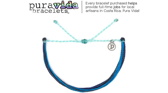 Pura Vida Bracelet, Charity Line, Sailors for the Sea