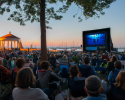 The film starting in King Park as the sunset over Newport Harbor. Photo by J. Clancy Photography