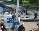 skipper's meeting, clean regattas announcement, bike rack