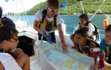 Sir Francis Drake Channel, sailing