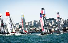 AC45's race along San Francisco city front
