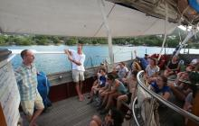 Orientation aboard the Corwith Cramer.