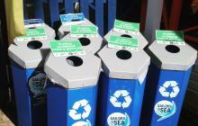 recycling bins, antigua, recycling at regattas, RORC 600