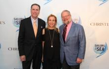 From left to right: Sailors for the Sea president, R. Mark Davis, Susan Rockefeller and David Rockefeller, Jr. co-founder and Chairman of Sailors for the Sea.