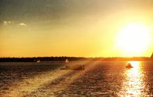 rhode island, Narragansett bay, sunset