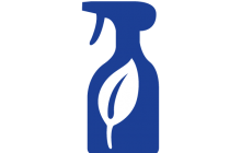 Non toxic cleaning product symbol