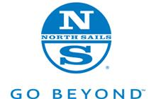 North Sails logo, go beyond, north sails