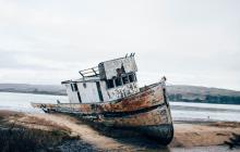 abandoned boat, point reyes, derelict boat, ben cliff, unsplash,