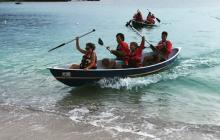 Kidz at Sea, Kids at Sea, kids rowing, caribbean