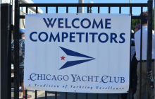 reusable signage, Chicago Yacht Club, Clean Regattas, Green Regattas, Sustainable Regattas,