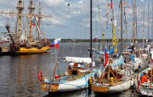 The well decorated docks of the Gangut Kotka regatta!